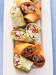 Tuna & White Bean Wraps  - No-cook wraps are a great choice when you're looking for a quick and easy dinner recipe. Use tomato or spinach tortillas to wrap up the tuna, bean, and tomato salad dressed with a lemony vinaigrette.