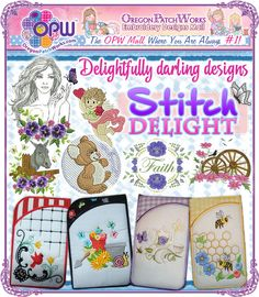 Shop delightfully darling designs, in machine embroidery, from Stitch Delight!