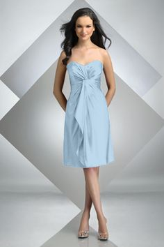 Style 216: Misty Blue. Charmeuse. Bridesmaids, Prom, Special Occasion & Evening: Bari Jay and Shimmer
