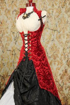 Red tonal medallion chenille peacock tailed vixen.  Amazing fabric!