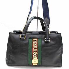 18f99e8ea30 Authentic GUCCI Soho Large Leather Shoulder Bag In Black