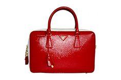 2984eb558aa7 $1650 - Prada Women's BL0095 Red Saffiano Leather Evening Purse 100 Percent  Authentic & finest