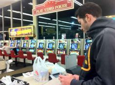 Growing up in Las Vegas...Both the gas station and grocery store you shopped at had at least five video poker machines.