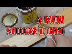 3 MODI DI STUCCARE IL LEGNO FAI DA TE - YouTube Coffee Cans, 3, Hobby, Youtube, Woodworking Tools, Youtubers, Youtube Movies