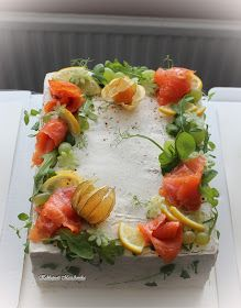 Kakkupuoti MariAnnika: Voileipäkakut Feta, Sushi, Ethnic Recipes, Savory Snacks, Salad, Sushi Rolls