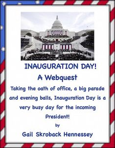 Taking the oath of office, a big parade and evening balls, Inauguration Day is a very busy day for the incoming President! There are 10 web questions, a Did You Know? section, comprehension questions and extension activities.This resource would be a great activity for around Inauguration Day.