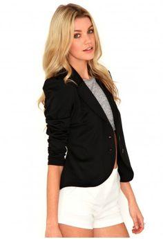 Iniga Structured Shoulder Blazer - Blazers - Coats & Jackets - Missguided