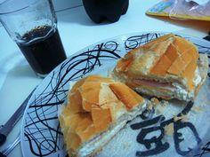 #Brazilian_Food ❤️❤️❤️ Brazilian sandwich with My Fav Brazilian Bread ❤️