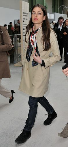 Charlotte Casiraghi ~Perfect travel outfit that looks pulled together but not trying too hard or worse sloppy.~J.