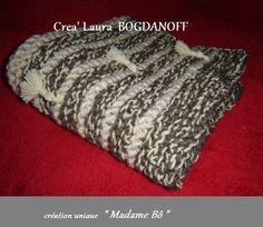 petit plaid couverture douce chaude et épaisse tricotée pour bébé. pièce unique : Linge de lit enfants par creations-mme-bo