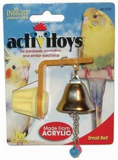 JW Pet Company Activitoys Bell Bird Toy, Small - https://www.balanced4u.net/crittercare/jw-pet-company-activitoys-bell-bird-toy-small/