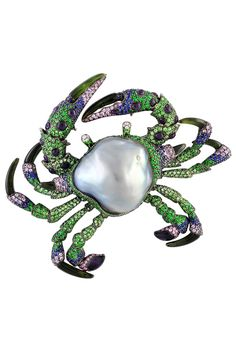 South Seas pearl and gemstones brooch by Autore