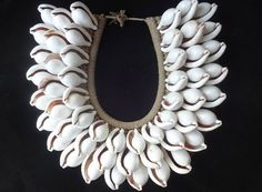 King Cowrie Shell Necklace Boho Chic Woman Fashion by ubudexotica