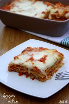 Lasagne au thon et tomates, avec des pâtes fraîches maison ;-)