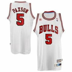 adidas John Paxson Chicago Bulls Hardwood Classics Swingman Jersey - White