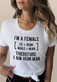 I Am A Female Iron Man Feminist Shirt / Female Empowerment / Empowering Women / . I Am A Female Iron Man Feminist Shirt / Female Empowerment / Empowering Women / Feminism Quote T-shirt / Women's Rights LGBT Shirt. Funny Outfits, Cute Outfits, Cute Shirts, Funny Shirts, Feminism Quotes, Lgbt Shirts, Marvel Clothes, Feminist Shirt, Fitness Style