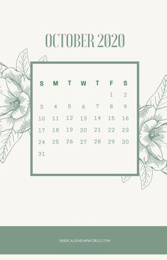 October 2021 Calendar floral printable #OctoberCalendar #October2021Calendar #Calendar #2021Calendar #OctoberWallpaper #FloralCalendar #OctoberFloral #Holidays October Calendar Printable, 3 Month Calendar, Holiday Calendar, 2021 Calendar, October Wallpaper, Calendar Wallpaper, Office Colleague, February Month, India Holidays