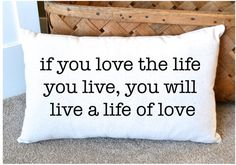 Canvas Pillow Inspirational Quote Home Decor by NanaNewHandmade