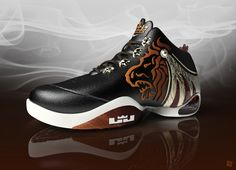 Nike LeBron James basketball shoe design and 3D visualization    For more images with different view visit http://www.deviantom.com     DevianTom © 2012