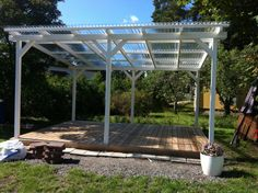 Gazebo Pergola, Building A Pergola, Deck With Pergola, Garden Pool, Summer Garden, Shed Patio Ideas, Outdoor Areas, Outdoor Structures, Timber Roof