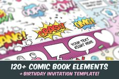 Comic Book Elements by Swedish Points on @creativemarket