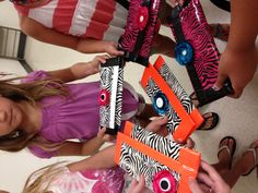 Duck tape purses made at Craft Camp.
