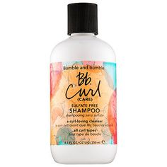 Shop Bumble and bumble's Bb. Curl (Care) Sulfate Free Shampoo at Sephora. This sulfate-free shampoo hydrates and preps curls for frizz-free styles. Curl Shampoo, Shampoo For Curly Hair, Sulfate Free Shampoo, Curly Hair Care, Natural Hair Care, Curly Hair Styles, Frizzy Hair, Bumble And Bumble Bb Curl, Shampooing Sans Sulfate
