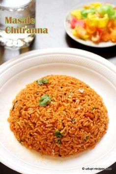 An authentic rice recipe masale chitranna in Udupi style explained with stepwise pictures.