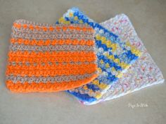 Dishcloth Crochet Pattern - Pops de Milk _____ spezielle Maschen!