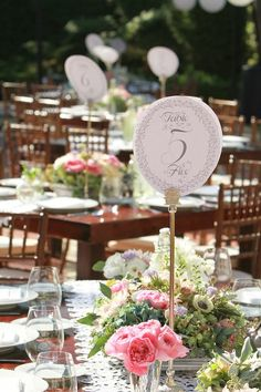 awesome table numbers! by Seed Floral Couture
