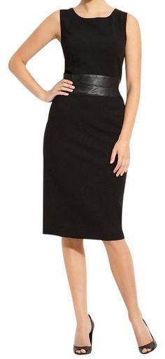 Lafayette 148 New York Black Sheath Short Work/Office Dress Size 12 (L) off retail Office Dresses, Dresses For Work, Sheath Dress, Peplum Dress, Lafayette 148, Size 12, Black Leather, Retail, New York