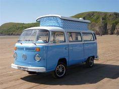 VW Volkswagen Blue Yonder camper van, 1970