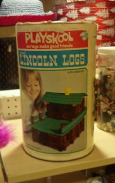 Vintage Lincoln logs playskool 128 piece explorer set 1970's
