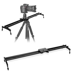 COOCHEER Camera Slider 3280cm Aluminum DSLR Dolly Track Rail Dolly for Photography and Video Recording with 14 38 Screw Up to 175lbs8kg Load Capacityfor YouTube video and short filmmakers >>> Click image to review more details-affiliate link.