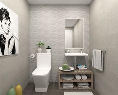 Propuesta para uno de los cuatro baños de los adosados Senda de l'Aire (Alboraya, Valencia). En este caso será uno de los aseos. Toilet, Vanity, Bathroom, Valencia, Chalets, Interiors, Third, Proposal, Dressing Tables