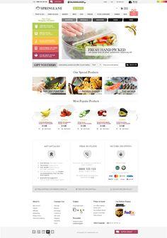 Homepage concept (e-commerce) for Australia based food company