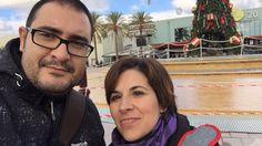 En el Festival Park de Palma de Mallorca mientras nuestro negocio nos acompaña en el bolsillo Blog.davidymiriam.com