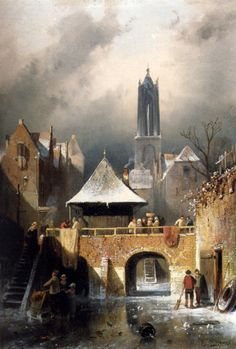 The Frozen Riverby Charles Henri Joseph Leickert
