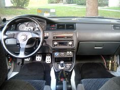 Honda Civic 1994 Interior (tuned) #racingsteering #aluminum #honda #civic #lefthanddrive