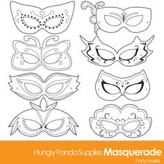 Masquerade Masks masquerade mask printable by HungryPandaSupplies