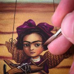 Who's that little girl ??? #benjaminlacombe #workinprogress #gouache #oils #upcomingbook
