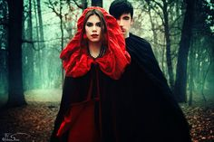 Little Red Riding Hood II - The Encounter by iNeedChemicalX.deviantart.com on @deviantART
