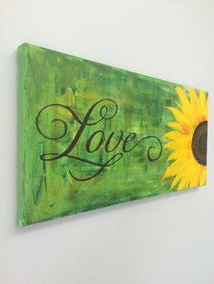 Sunflower Love Painting Sunflower decor sunflower canvas yellow sunflower decoration sunflower hand painted decor Home Fashions art USD) by CaninosArtisticCafe Sunflower Canvas, Yellow Sunflower, Sunflower Paintings, Love Painting, Paint Party, Painting Inspiration, Canvas Art, Arts And Crafts, Just For You