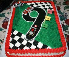 Nascar 7 Year Old Birthday Cake