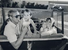 Steve McQueen and his wife, Neile, with children Chad and Terry in 1962.