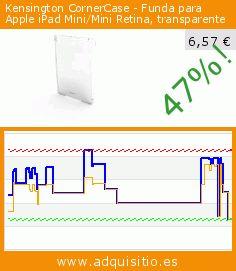 Kensington CornerCase - Funda para Apple iPad Mini/Mini Retina, transparente (Ordenadores personales). Baja 47%! Precio actual 6,57 €, el precio anterior fue de 12,33 €. https://www.adquisitio.es/kensington/cornercase-funda-apple