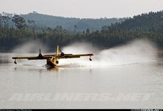 CEGISA Canadair CL-215-1A10 CL-215-III  Off-Airport - Aguieira Dam Portugal, September 5, 2012