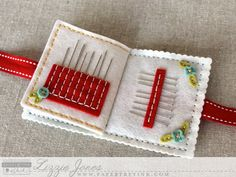 Don't Forget To Write: Quick Stitch: Sewing Staples Kit - Lizzie Jones Felt Crafts, Fabric Crafts, Sewing Crafts, Sewing Projects, Needle Case, Needle Book, Sewing Case, Felt Embroidery, Machine Embroidery