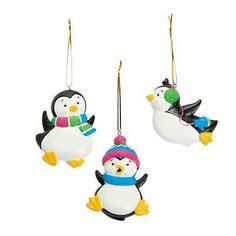 Playful Penguin Ornaments