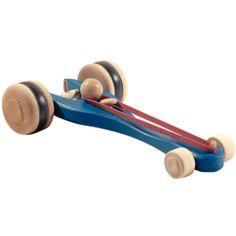Wooden Rubberband Race Car. Wind it up and watch it go! www.bellalunatoys.com